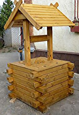 Домик для колодца брус